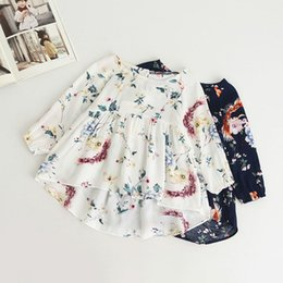 Wholesale American Girl Dolls Clothes - Kids Girl dress New fashion Children's printed sweet long sleeve doll shirt children's clothing wholesale good quality