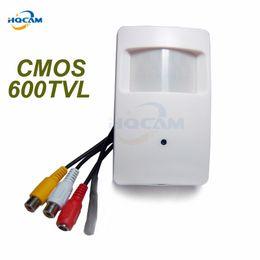 mini rivelatori di topi Sconti HQCAM CMOS Colore 600TVL CCTV Telecamera di sicurezza Rilevatore di movimento PIR CCTV da interno Mini telecamera da cmos PIR Microfono di sorveglianza