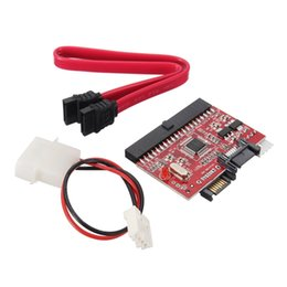 Wholesale Powered Dvd - Wholesale- 2 in 1 SATA to IDE Adapter   IDE to SATA Converter With Sata Cable Power Cable for DVD CD HDD Hard Disk