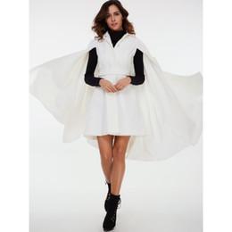 Femmes Manteaux Casual Blanc OL Hiver Chaud Cape Laine Mélanges Revers Bouton Plain Ceinture Ceinture Élégant De La Mode Manteaux Survêtement ? partir de fabricateur