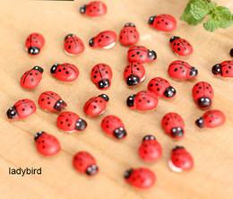 Ornement de poupée de fée en Ligne-Gros Coccinelle en bois et abeilles Mini Fairy Garden Micro Maison de poupée Bonsai Paysage Ornement