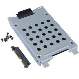 пластиковый футляр для жесткого диска Скидка Freeshipping жесткий диск Caddy разъем для Inspiron 1720 1721-поставляются с 8 шт винты и разъем жесткого диска