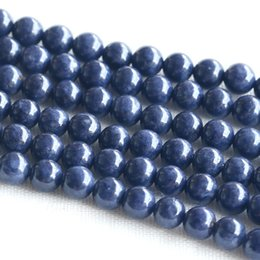 "Wholesale Natural Blue Sapphires - Discount Wholesale Natural Genuine Blue Sapphire Round Loose Beads 4-18mm DIY Jewelry Necklaces or Bracelets 15"" 03684"