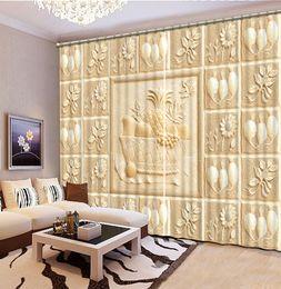 Dekorvorhänge Wohnzimmer Rabatt Europäische Geprägte 3D Vorhänge Für  Wohnzimmer Küche Blackout Vorhänge Home Decor Fenster Vorhang