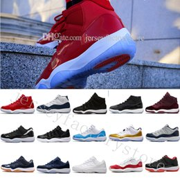 Wholesale Good Jams - 2018 Gamma Blue XI Basketball Shoes Men Womens New Fashion Sports Shoes Discount Good Quality 11(XI) Bred Concord Space Jam Legend Sneakers