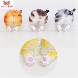 Wholesale Animal Car Magnets - Wholesale- Free shipping 2pcs Cute Cat Butt Toys Fridge Animal Figures Funny Pet Kitten home office car decor magnet party supply kid gifts