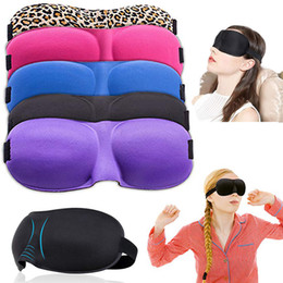 cernes pour dormir Promotion Masque de sommeil 3D confortable 12 couleurs Contoured Ultralight Sleeping Mask Couverture Shade Eye Patch Blindfold Travel Eyepatch Pas de pression Eyeshade