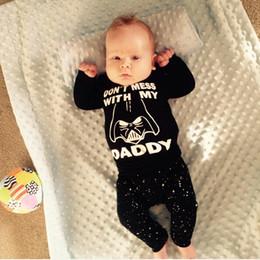 Automne Bébé Garçon Vêtements Ensembles Noir À Manches Longues Bébé Garçon Vêtements T-shirt + Pantalon Infantile Costumes 2 PCS Costume ? partir de fabricateur