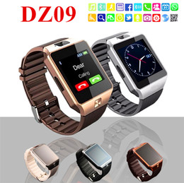Wholesale Hot Portuguese - 2018 Hot Selling DZ09 Smart Watch Support TF Sim Card Watch with Camera Intelligent Bluetooth Wristwatch for Smart Phone with Retail Box
