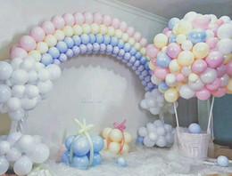 Chuveiros de rosa on-line-100 pcs Mix Cor Macaron Balões De Látex Festa De Aniversário De Casamento 2.2g Rosa Menta Rose Air Hélio Latex Decoração Do Bebê Do Bebê Chuveiro menina