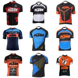 Wholesale bike ktm - KTM team Cycling Short Sleeves jersey 2018 new men's bicycle short-sleeved racing sportswear bike cycling breathable D302