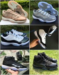 Wholesale rose gold emerald - 11 Low Easter Emerald Green Cool Grey Rose Gold Space Jam Gamma Blue Concord 45 Basketball Shoes Men Women XI Perfect 11s Sneakers