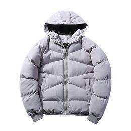 Wholesale Mens Zip Up Hoodie Black - New Mens Winter Warm Loose Zip Up Hoodie Down Coat Parka Jacket
