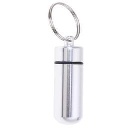 Argentina Caja de la medicina de la píldora de plata Llavero de la botella de la cápsula del envase Botella del envase Suministro