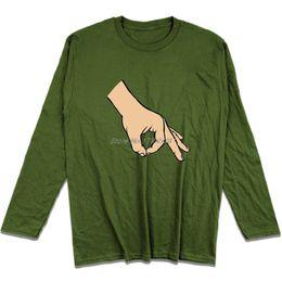 Cercle Jeu De Main Viral Vidéo Drôle T Shirt Hommes Coton À Manches Longues T-shirt Hip Hop Tees Tops Harajuku Streetwear ? partir de fabricateur