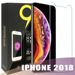 iphone flim avant Promotion Pour 2018 NOUVEAU Protecteur d'écran en verre trempé Iphone XR XS MAX X J3 J7 Premier LG HUAWEI Compagnon 20 X Alcatel 2.5D 9H Paquet de papier