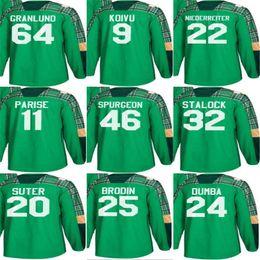 2018 Mens St. Patricks Day Minnesota Wild 32 Alex Stalock 20 Ryan Suter 25  Jonas Brodin 46 Jared Spurgeon Zach Parise Hockey Jerseys inexpensive  minnesota ... 9edb9885f