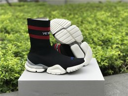 Wholesale Work Train - 2018 light gray Sock Booties Sports arder Running Shoes Training Sneakers Shoes Speed Knit Sock High-Top Training Sneakers