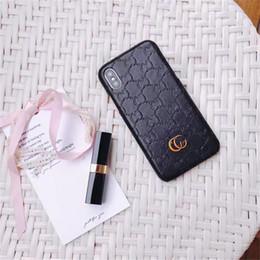 Canada Top Luxe Designer Motif Cas De Téléphone Pour iPhone X XS Max XR 6 6s 7 8 Plus Mode Couverture Arrière Dur Pour Galaxy S9 S8 S7 Bord Note 9 Note8 Offre