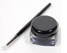 Wholesale Eye Shadow Gels - NEW ARRIVAL Waterproof Eye Liner Pencil Make Up black Liquid Eyeliner Shadow Gel Makeup + Brush Black maquiagem