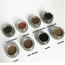 Wholesale media stocks - in stock Pomade Medium Brown Waterproof Makeup Eyebrow 4g Blonde Chocolate Dark Brown Ebony Auburn Medium Brown TALPE