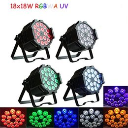 Wholesale Rgbwa Led Par - Aluminum alloy LED Par 18x18W RGBWA+UV 6in1 LED Par Can Par led spotlight dj projector wash lighting stage lighting