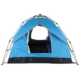 Wholesale Double Layer Tents - Automatic Tent Beach Tent Two-layer Double 3 Person Leisure 200 * 200 * 140cm 170T polyester fabric Green   Blue