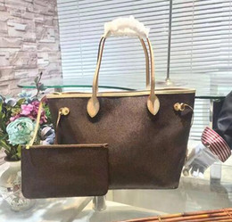 Wholesale cream shop - Classic Orignal real oxidation leather shoulder bag Tote luxury brand handbags presbyopic shopping bag purse shopper bag