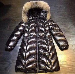 Wholesale Women Long Winter Puffer Jacket - Hot Popular Super Warm winter women wave long Puffer Parkas Down Stylish black Jacket with hooded Raccoon Fur lady's Outerwear Coats