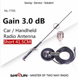 Wholesale Baofeng Dual Uv 5r - NL-770S UHF VHF Dual Band Mobile Car Antenna for Car Walkie Talkie BJ-218 MP320 Ham Radio Baofeng UV-9R UV-5R BF-888S UV-82