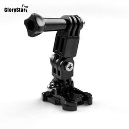 Para gopro acessórios de 3 vias braço pivô ajustável para gopro hero5 4 3 xiaomi yi sjcam sj4000 sj5000 sj7000 esportes ação câmera de Fornecedores de câmera de esportes ajustável