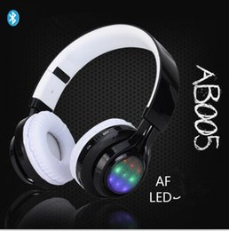 Wholesale bluetooth headset manufacturers - Headset Bluetooth 4.2 headset AB005 plug - in multi - function luminous Bluetooth headset manufacturer