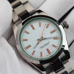 Super espejo de acero inoxidable online-Relojes de lujo para hombre Relojes completos de acero inoxidable Reloj mecánico automático resistente al agua de zafiro súper luminoso espejo