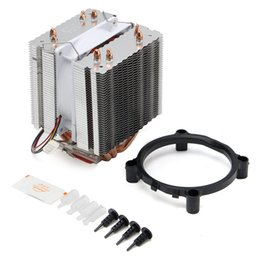 intel cpu cores Coupons - Wholesale- Brand New Ultra Quiet Computer CPU Cooler Fan CPU Cooler Heatsink Four Heat Pipe Radiator For Intel LGA775 Core i7 AMD FM2 AM