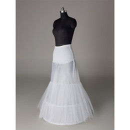 Wholesale Plain Gowns - Bridal Petticoat In Stock Hot Sale 3 Hoop Mermaid Bone Full Crinoline For Dress SkirtSlip Wedding Petticoat Wedding Accessories