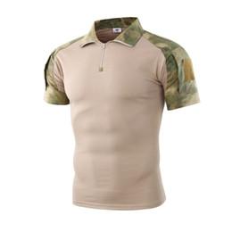 Рубашка камуфляж xxl онлайн-Mens Tactical T Shirts Summer Breathable Camouflage Army Combat Shirt US Force  Tactical Polo Shirt  Camo Tees