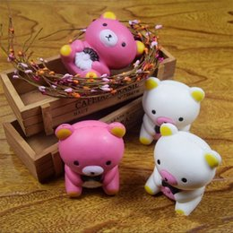 Wholesale Doll Silicone Child - Bear Doll Squishy Slow Rising Adult Venting Toy Squishie Animal Shape Decompression Toys Children Gift New 9ym C