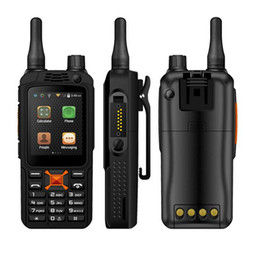 Wholesale 3g Sim Card Camera - original upgrade F22+ F22 Plus Android Smart outdoor Rugged Phone Walkie Talkie Zello PTT 3G Network intercom Radio Enhanced 3500mAh Battery