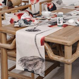 2019 corredores da tabela do partido de borgonha Corredor da tabela do algodão da casa da formaTigre chinês da lótus Bandeira da tabela e tampa de Placemat