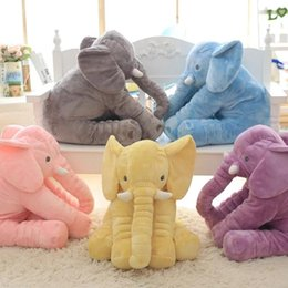 Wholesale teddy bear bedding - 38 60cm 6 colors Baby Animal Elephant Style Doll Stuffed Elephant Plush Pillow Kids Toy for Children Room Bed Decoration Toys