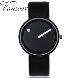 dot watches Coupons - Vansvar Brand Minimalist Style Wristwatches Creative Men Women Design Dot and Line Simple Face Quartz Watches Gift Clock