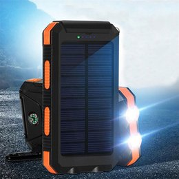 Wholesale Real Banks - Yafox Waterproof Solar Power Bank Real 20000 mAh Dual USB External Polymer Battery Portable Charger With LED Light Compass Outdoor