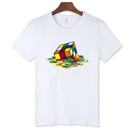 Wholesale T Shirts Wholesale Famous Brands - BTS New Arrival Melted Cube Design Black and White T-Shirt Men Short Sleeve with Famous Brand T Shirt Men 2016 Cotton Tees 4xl