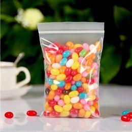 Wholesale Thick Zip Bag - 0.2mm Thick Plastic PE Zip Lock 4x6cm Packaging Bags 100pcs Transparent Jewelry Packaging Bags Custom Plastic Bag