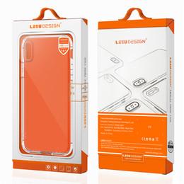 Wholesale Apple Air Cases - LEEU DESIGN 2018 new anti shockproof TPU anti slip dust plug clear silicon air cushion mobile phone cellphone case for iphone x 10 7 8 plus