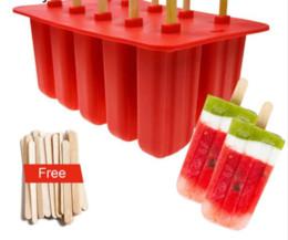 Cube de crème glacée en silicone d'enfance de 10 cellules avec le plateau de couverture moules de Popsicle ? partir de fabricateur