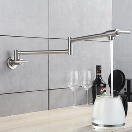 2019 rubinetti da cucina a parete Rubinetto da cucina Miscelatore monocomando a parete Miscelatore monocomando con nichel spazzolato Miscelatore monocomando per cucina rubinetti da cucina a parete economici