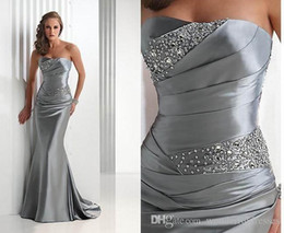 Vestidos de dama de honor azul real de plata gris de alta calidad Vestidos De Burdundy corsé al por mayor sirena larga novias criada barato desde fabricantes