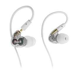 Wholesale Detachable Plugs - OKCSC A8 Dual Driver In Ear Earphones Noise Cancelling Hifi Headset with mic 3.5mm Plug Wired Earbuds with Detachable Cables DHL Free