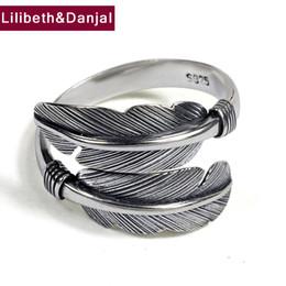 925 серебряные кольца таиланд онлайн-Перо кольцо 100% реальный стерлингового серебра 925 ювелирных изделий мужчины горячие продажа классический Такахаси Таиланд женщины МОДА СТИЛЬ GR1 D18111306